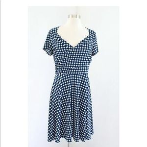 Anthropologie's Maeve plaid swing dress